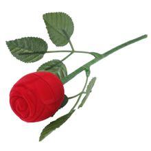 Estojo Botão de Rosa com Caule para Anel