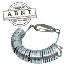 Aneleiro de Metal para Medir os Dedos Padrão ABNT NBR 16058:2012