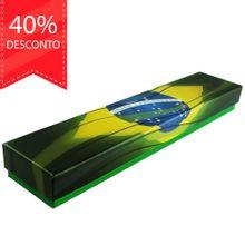 Estojo Pátria de Papel Cores Brasileiras para Joias (Pulseira)