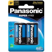 Pilha Panasonic D Grande Comum Blister com 2 Unidades