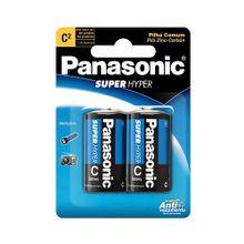 Pilha Panasonic C Média Comum Blister com 2 Unidades