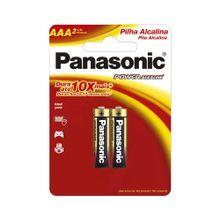 Pilha Panasonic Alcalina AAA com 2 Unidades