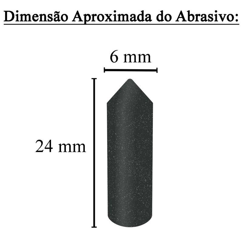 Dimensao-Tubo-Conico-Preto