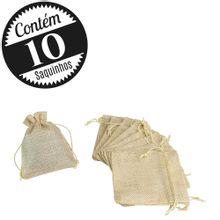 10 Saquinhos de Linho Atacado 9,5 x 12 Pequeno
